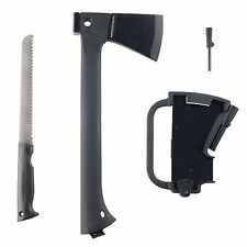 Wakeman Camping Fishing Hiking Axe and Saw inside Axe with Fire starter