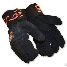 Men's Harley Davidson Cut Resistant Leather Gloves Large Black/Orange W/ KEVLAR