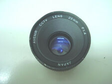 Japan Avenir CCTV Lens C-mount 25mm F1.4 1:1.4 *USED* free ship