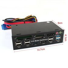 Multi-function USB3.0 with USB2.0 Card Reader Floppy Panel High Speed 5.0Gbps