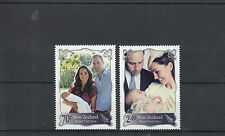 New Zealand NZ 2014 MNH Royal Visit 2v Set Prince William Kate George Baby