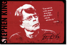 "STEPHEN KING ART PRINT PHOTO POSTER GIFT ""WRITER QUOTE"""