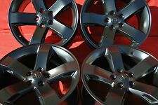 "18"" dodge charger challenger semi gloss  black rims wheels oem set 4 magnum"