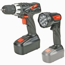 "18 Volt Cordless 3/8"" Drill/Driver and Flashlight Kit"