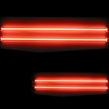 "4 Piece Car Red Undercar Underbody Neon Kit Lights CCFL Cold Cathode 6"" + 12"""