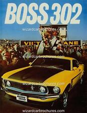 1969 FORD MUSTANG FASTBACK BOSS 302 A3 POSTER AD SALES BROCHURE MINT