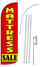 MATTRESS SALE Flag Kit 3' Wide Windless Swooper Feather Advertising Sign