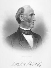 WENDELL PHILLIPS Native American Indian Movement Rights 1877 Art Print Engraving