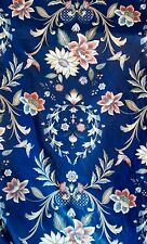 Vintage Chintz Blue Floral Drapery Decorator Fabric 6 Yds House N Home Draperies
