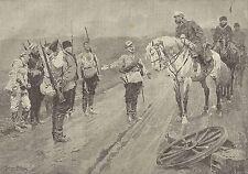 A1115 Guerra Russo-Giapponese - Dopo battaglia Sha-Ho - Stampa Antica del 1905