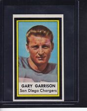 Gary Garrison 1971 Dell Football Stamp Insert San Diego Chargers NEAR MINT !