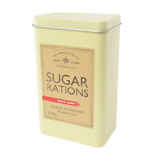 Retro Sugar Caddy Canister Rations Tin Green DAD'S ARMY