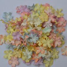 100 MIXED MULBERRY PAPER PASTEL COLOR MINI PETAL FLOWER SOFT/SWEET TONE 2 cm