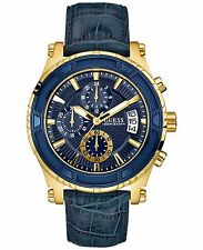 GUESS Men's U0673G2 Iconi Blue & Gold-Tone Date Watch