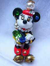 Vintage Design Strass Brosche Brooch Walt Disney Minnie Mouse Bully Nr.163