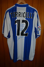 RCD ESPANYOL MATCH WORN ISSUE FOOTBALL SHIRT CAMISETA JERSEY PUMA #12 TORRICELLI