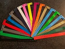 """50 3/4"""" ASSORTED PLASTIC/VINYL WRISTBANDS, WRISTBANDS FOR EVENTS, ARM BANDS"""