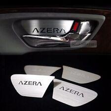 Interior Door Catch Garnish Hair-line Metal for HYUNDAI 2012 - 2016 Azera HG