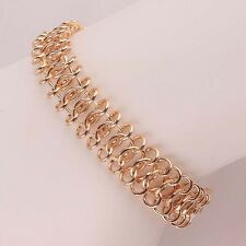 "Unique Woman 14K Gold Filled Shining 9"" High Quality Bangle & Bracelet B953"