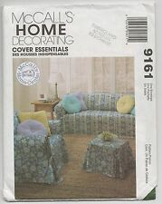 NEW MCCALLS 9161 HOME DECORATING SLIPCOVERS & PILLOWS SEWING PATTERN UNCUT
