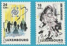 Luxemburg aus 2001 ** postfrisch MiNr.1535-1536 - Humanitärer Einsatz!   TOP!!!
