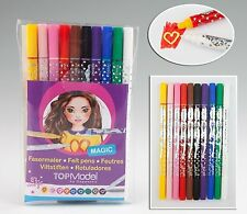 Depesche TopMODEL MAGIC MARKERS Top Model Set of 10 Double Ended Marker Pens