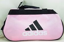 Adidas Diablo  Pink Small Duffel Bag Black Gym Sport Travel Authentic New Pin