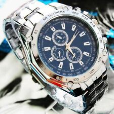 New Fashion Men Stainless Steel Band Analog Sport Military Quartz Wrist Watch
