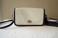 AUTH Coach Purse LEGACY TWO TONE LEATHER PENNY SHOULDER CROSSBODY Bag 22406