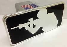 hitch cover ,sniper,military m16, ar15,chevy,ford, rifle  infidel black,infidel