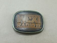 Vintage AM Country radio station Leather Belt buckle WCXI 1980 Detroit Michigan
