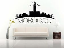 Wall Vinyl Sticker Decal Skyline Horizon Panorama City Morocco Africa F1804