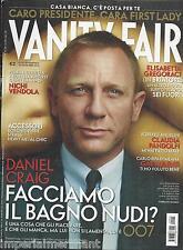 Vanity Fair magazine Daniel Craig James Bond 007 Nichi Vendola Claudia Pandolfi