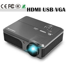 LED LCD Home Theater 1080p HD Multimedia Projector HDMI USB Built-In Speakers