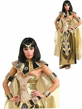 Women's Deluxe Egyptian Goddess Cleopatra Adult Gold Fancy Dress  Costume