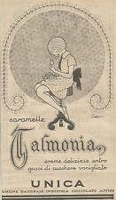 W1151 UNICA - Caramelle Talmonia - Pubblicità 1926 - Vintage Advert