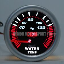 "52mm (2 "") Ahumado Led Agua Temp Temperatura Calibre - 120 grados C (universal)"