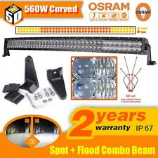 "5D 42""Inch 560W OSRAM Curved Led Work Light Bar Spot Flood Offroad 4WD Truck ATV"