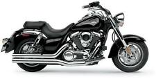 "Hard Krome 3"" Straights Exhaust with Tips Kawasaki Vulcan Nomad 1700 2010"