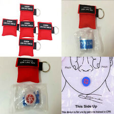 Hot CPR Resuscitator Mask Key Chain Crisis Face Shield First Aid Rescue Sale