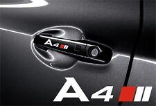 5x Aufkleber Audi A4 für Türgriff und Außenspiegels Cut Vinylselbstklebe