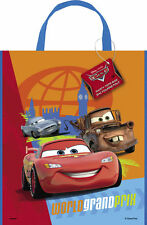 CARS BIRTHDAY PARTY PLASTIC TOTE BAG x 3