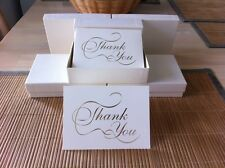 """100 METALLIC GOLD IMPRINTED """"THANK YOU"""" NOTE CARDS WITH MATCHING ENVELOPES"""