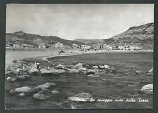 Bosa ( Oristano ) - La spiaggia vista dalla Torre - viaggiata fine anni '50