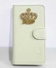 3D Diamond Crystal Crown Flip Leather Card Wallet Pouch Cover Case For HTC Phone