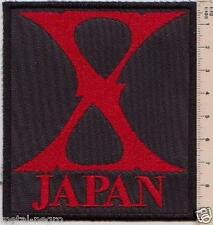 XJAPAN EMBROIDERED PATCH SPEED HEAVY METAL X JAPAN ADX Metal Negro