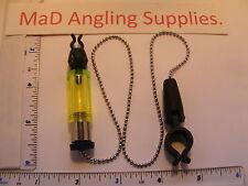 Indicateur vert bite bobine avec chaîne et clip fo brochet, de la carpe & grossier pêche