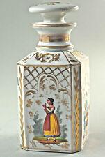 Belle antique boîte à thé,Porcelaine Carafe,Décoration Florale,peint à la main,