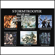 "Fridge Fun Refrigerator Magnet STAR WARS Stormtrooper ""What I Really Do"" Funny"