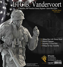 RP Models Lt Vandervoort WW2 Unpainted 1/10th scale bust kit Limited Edition OOP